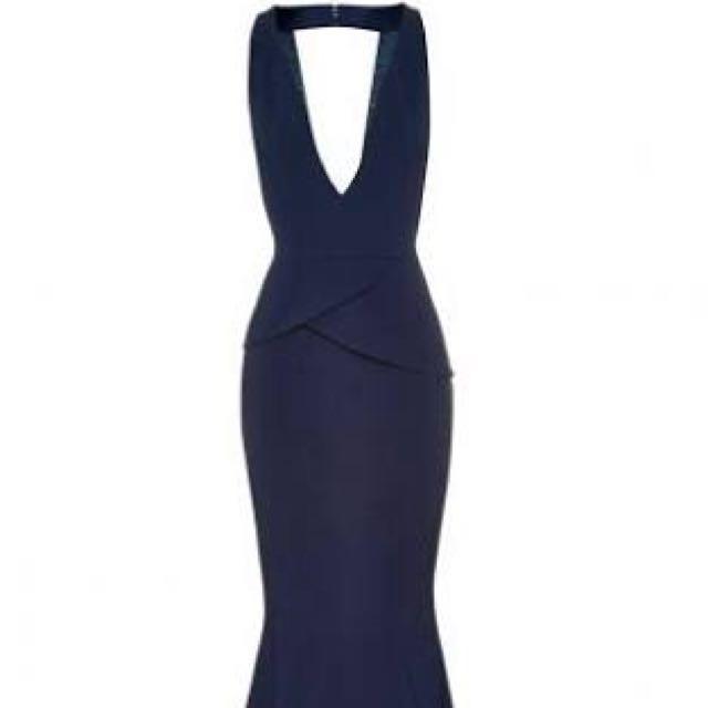 Size 14 Navy Blue Sheike Dress