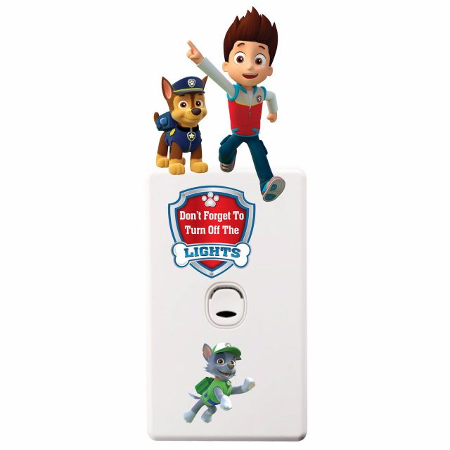 Skye Paw Patrol Light Switch Wall Stickers - Totally Movable