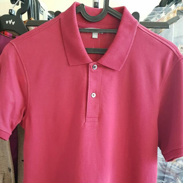 Uniqlo Polo Shirt Size L Maroon