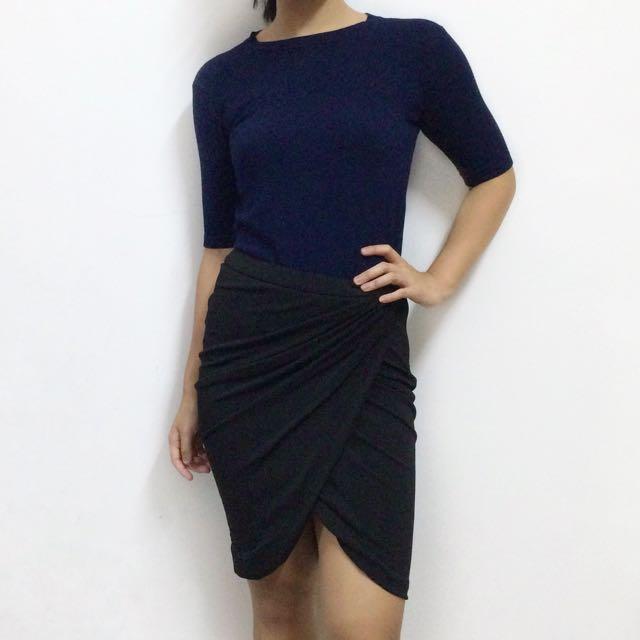ZARA [Get The Look] Knit Top & Drape Skirt (Free Postage!)