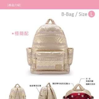 b-bag 喜舖 媽媽包 法式蕾絲金
