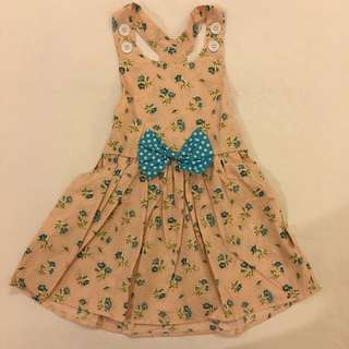 Little Fairy Collection Pinafore Floral Dress Size S for little girls aged 2-3yrs