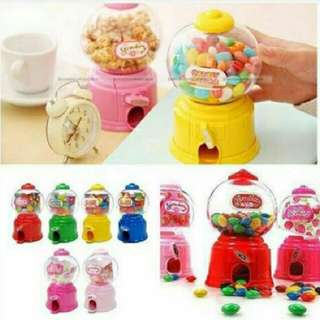 Mini Gumball Machine With Coin Bank
