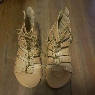 Short Gladiator Sandals