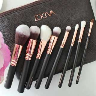 [PO ONLY] Zoeva Rose Golden Luxury Inspired Makeup Brush Set with Pouch
