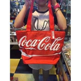日本進口 正版 Coca-cola 可口可樂 保冰保溫袋 手提袋 野餐袋