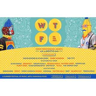 We The Fest (WTF) 2016 One-day Pass Ticket (13 Aug)