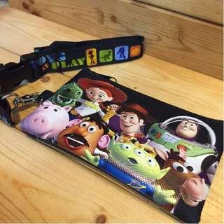 Disney 迪士尼 胡迪 翠絲 巴斯 邪惡豬排博士 三眼怪 彈簧狗 蛋頭 零錢包