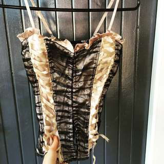 Very Sexy Lingerie Vest Top Size S