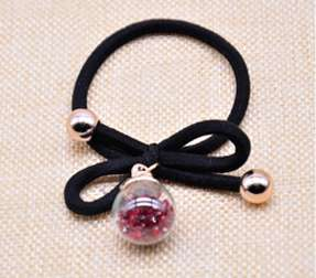 Single Crystal Ball Hair Rubber Band - Red