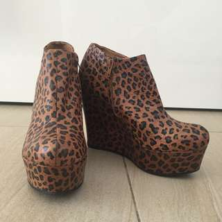 Forever 21 Leopard Print Boots/heels