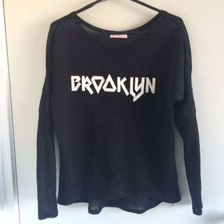 Black Brooklyn Top