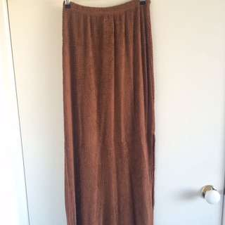 Brown Long Skirt