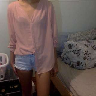 Forever 21 Pink/coral Shirt