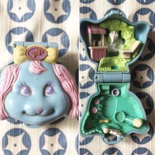 Polly Pocket Loves Puppy vintage compact