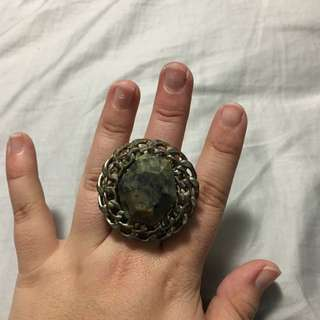Green And Gold Gem Ring