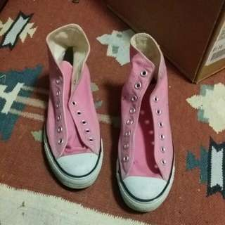 Pink Canvas Converse All Stars Size US 8