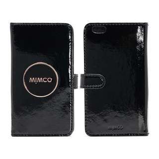 BRAND NEW WITH TAG AND DUST BAG MIMCO BLACK/ROSE GOLD IPHONE 6 FLIP CASE