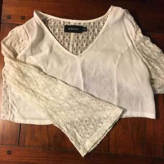 Minkpink Bell Sleeve Crop Top