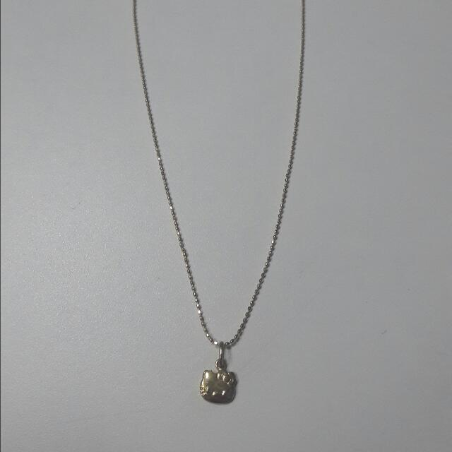 18k Gold Necklace Hello Kitty Pendant