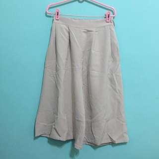 粉色寬褲,8分長