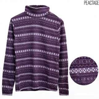Turtleneck Purple Pattern