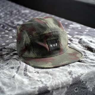HUF 5 Panel Volley Spray Camo Cap