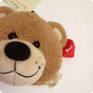日本超人氣療癒系小熊Suzy's Zoo BOOF愛心梨花熊伸縮零錢包零錢袋(悠遊卡、卡套)#新春八折