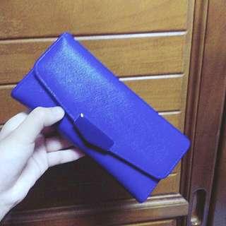 深藍色長夾