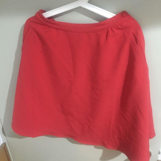 紅色中長裙