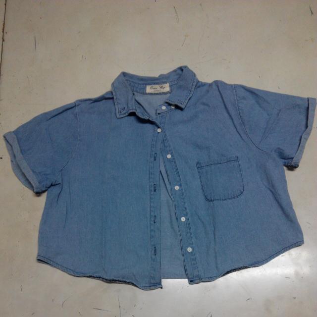 短袖牛仔襯衫