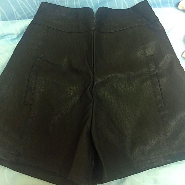 高腰皮褲(顯瘦款)