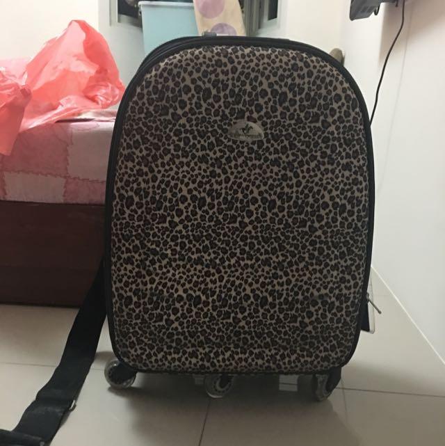 豹紋行李箱 軟殼