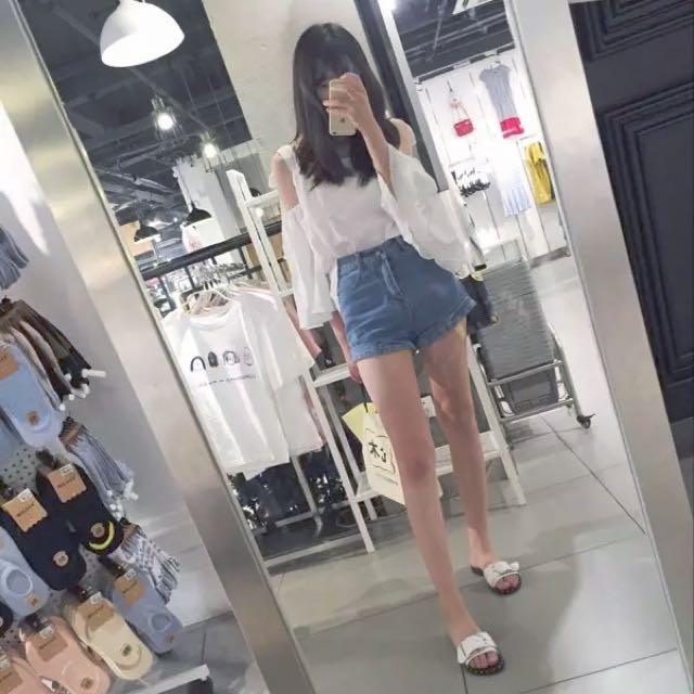 A字牛仔短褲