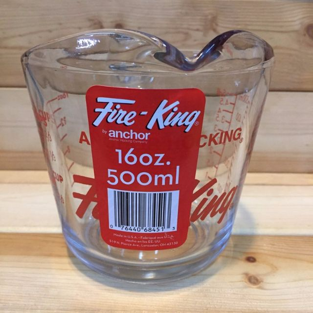 美國進口Anchor Hocking Fine-King 16oz 玻璃量杯