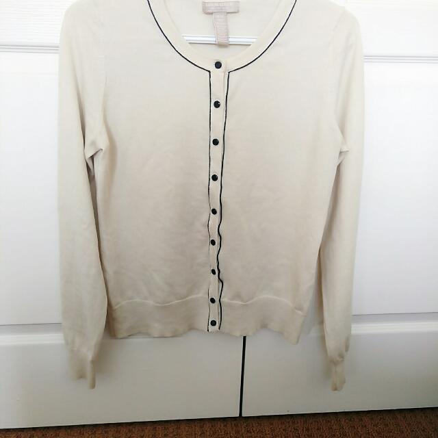 BananaRepublic White Cardigan