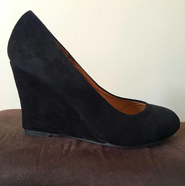 Black Wedge Heel