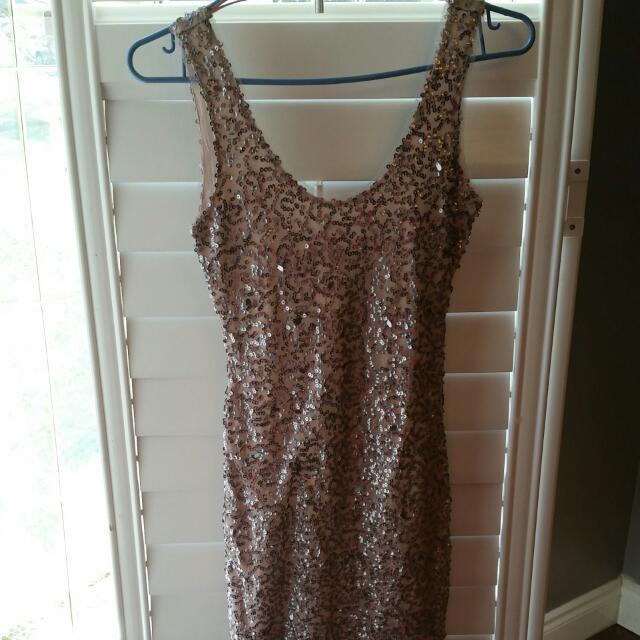BNWOT Zara Sequin Dress XS