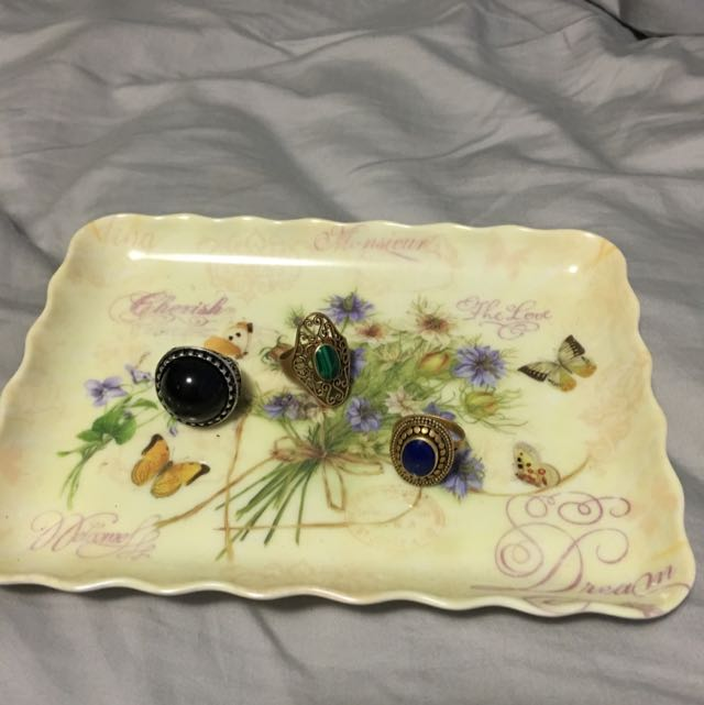 Butterfly Flower Jewellery Tray