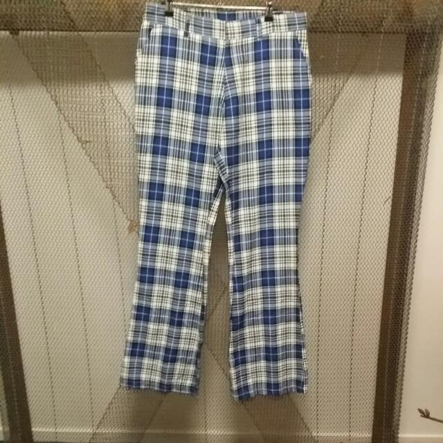 Dangerfield Bootleg Plaid Pants 'Size 34'