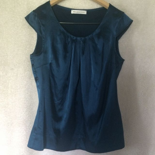 Elegant Dress Shirt ~ Silky Dark Blue