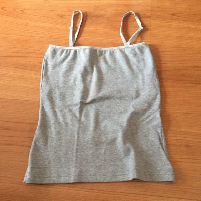 Grey Strap Top