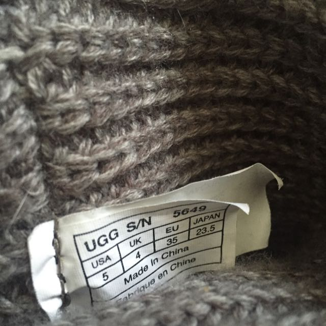 Grey Ugg Cardys PRICE LOWERED