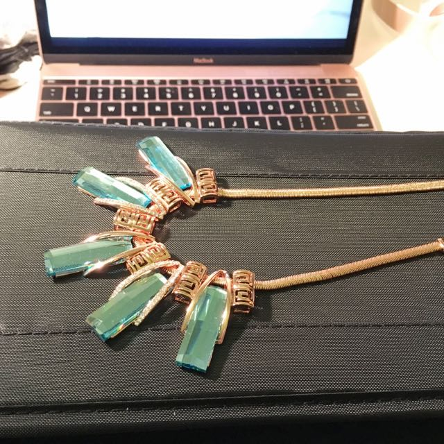 Icy Blue Necklace