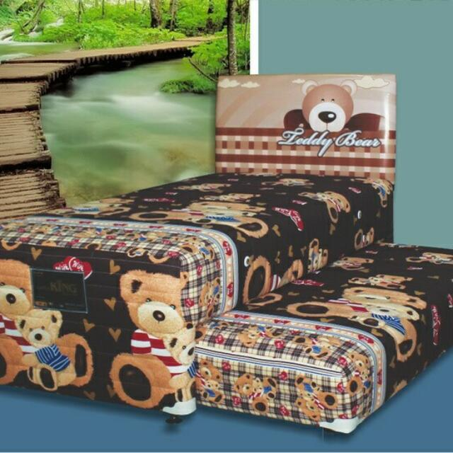 Kasur Springbed King - Mexico 2in1 (Teddy Bear)