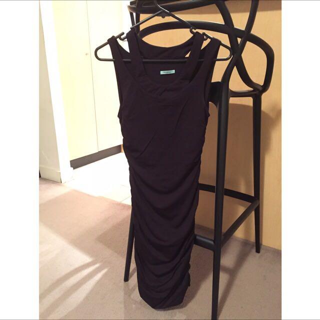 Kookai Black Bodycon Bandage Dress Size 1