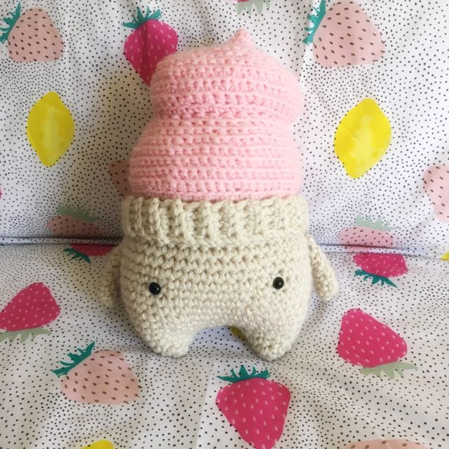 Large Crochet Ice Cream Softie