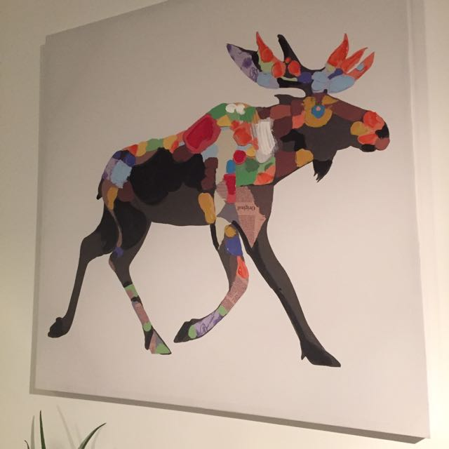 Large Moose Painting