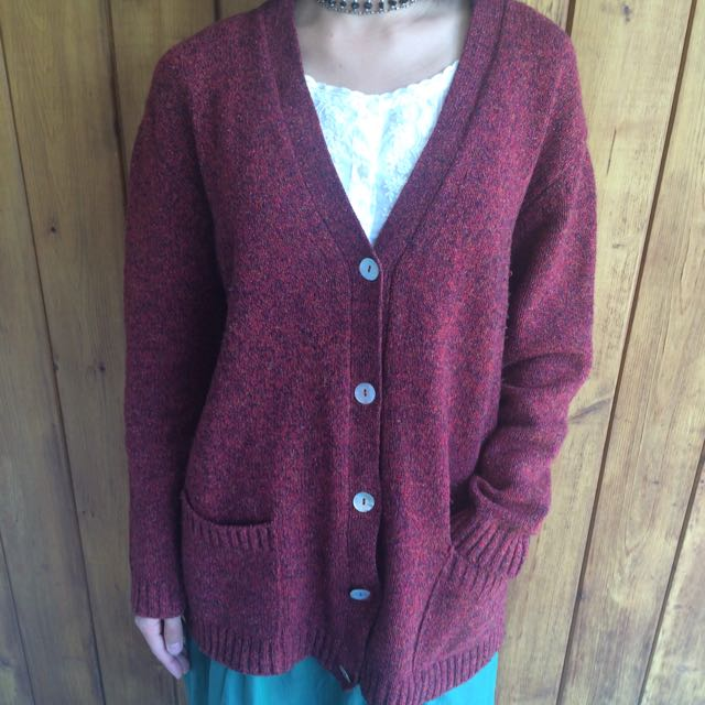 Made in Italy ~ Wool Cardigan ~ Shell Buttons