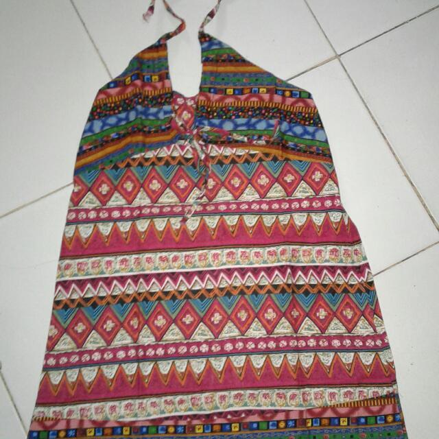 mini dress songket